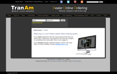 Tran Am - Dealer Online Ordering
