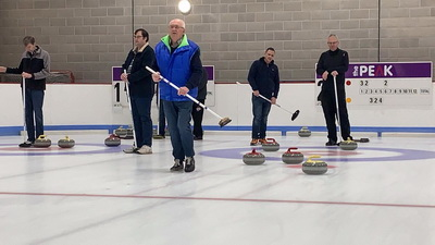 Curling in Stirling with Catalyst Team