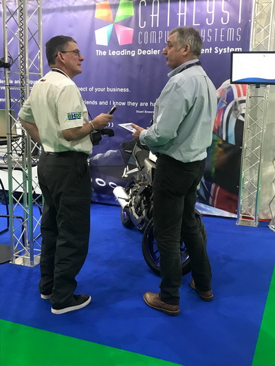 Catalyst at the Motorcycle Trade Expo 2018 on stand B28.