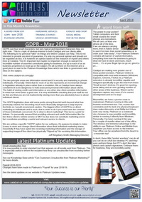 April 2018 Newsletter from Catalyst