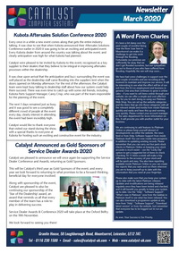 March 2020 Newsletter from Catalyst